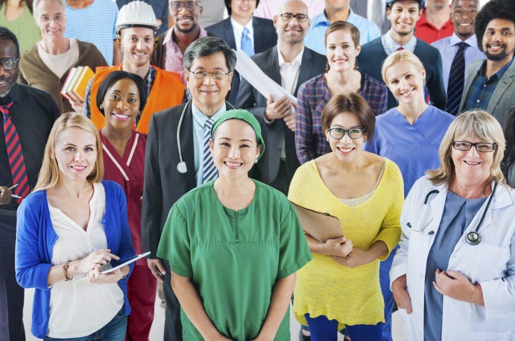 group of career people