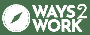 Ways2Work logo in white