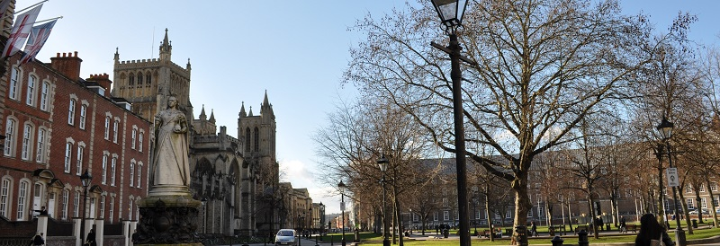 View of College Green in Bristol