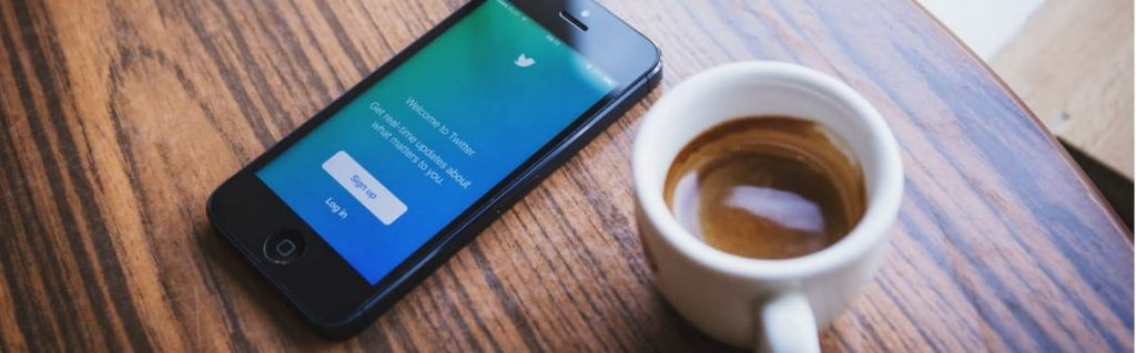 Picture of phone showing social media