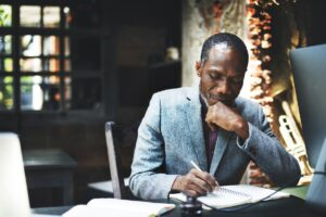 African descent man working